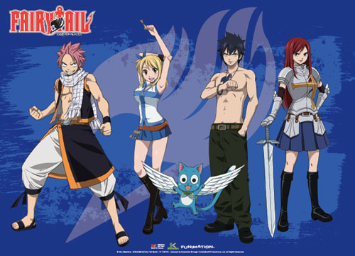 Fairy Tail - Group 5 Wallscroll, an officially licensed product in our Fairy Tail Wall Scroll Posters department.