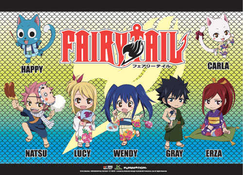 Fairy Tail - Sd Group 3 Wallscroll, an officially licensed product in our Fairy Tail Wall Scroll Posters department.