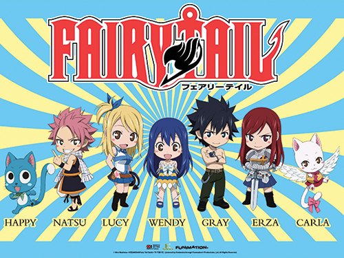 Fairy Tail - Sd Group 4 Wall Scroll, an officially licensed product in our Fairy Tail Wall Scroll Posters department.
