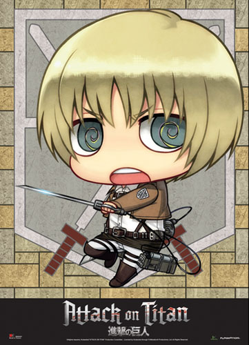 Attack On Titan - Sd Armin Wallscroll, an officially licensed Attack On Titan product at B.A. Toys.