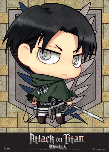 Attack On Titan - Sd Levi Wallscroll, an officially licensed Attack On Titan product at B.A. Toys.