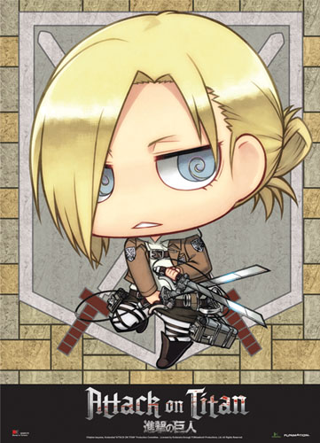Attack On Titan - Sd Annie Wallscroll, an officially licensed Attack on Titan Wall Scroll