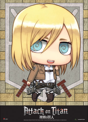 Attack On Titan - Sd Christa Wallscroll, an officially licensed product in our Attack On Titan Wall Scroll Posters department.