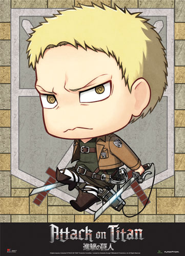 Attack On Titan - Sd Reiner Wallscroll, an officially licensed Attack On Titan product at B.A. Toys.