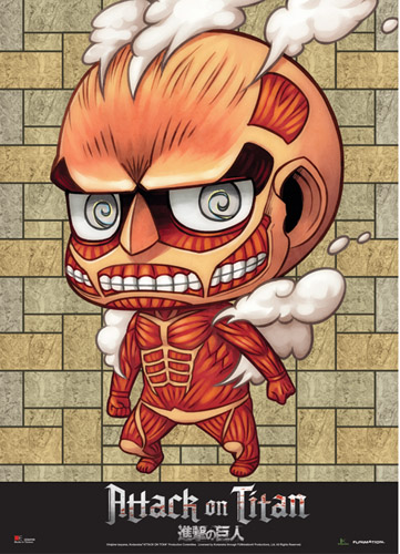 Attack On Titan - Sd Collosal Titan Wallscroll officially licensed product at B.A. Toys.