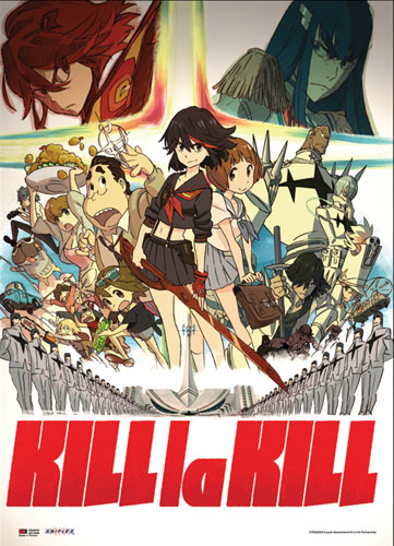 Kill La Kill - Group Wallscroll, an officially licensed product in our Kill La Kill Wall Scroll Posters department.