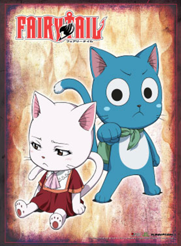 Fairy Tail - Happy & Carla Wall Scroll, an officially licensed product in our Fairy Tail Wall Scroll Posters department.