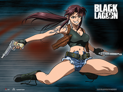 Black Lagoon - Revy Wall Scroll officially licensed Black Lagoon Wall Scroll Posters product at B.A. Toys.