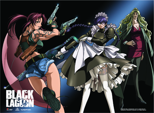Black Lagoon - Revy, Roberta & Balalaika Wall Scroll, an officially licensed Black Lagoon product at B.A. Toys.