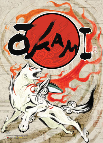 Okami - Amaterasu Wallscroll officially licensed Okamiden Wall Scroll Posters product at B.A. Toys.