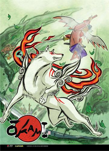 Okami - Amaterasu & Waka Wallscroll officially licensed Okamiden Wall Scroll Posters product at B.A. Toys.