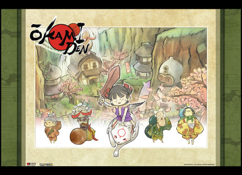 Okami Den - Yakushi Village Wallscroll officially licensed Okamiden Wall Scroll Posters product at B.A. Toys.