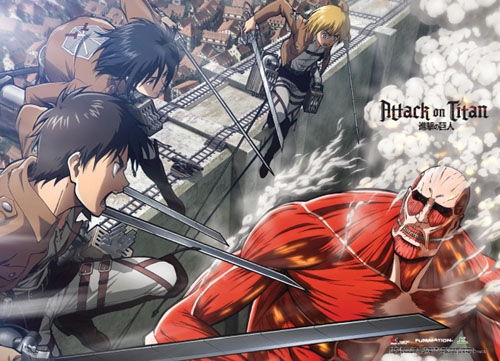 Attack On Titan - Group Special Edition Wallscroll, an officially licensed Attack On Titan product at B.A. Toys.
