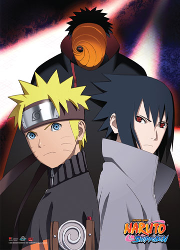 Naruto Shippuden - Tobi, Naruto And Sasuke Wallscroll, an officially licensed product in our Naruto Shippuden Wall Scroll Posters department.