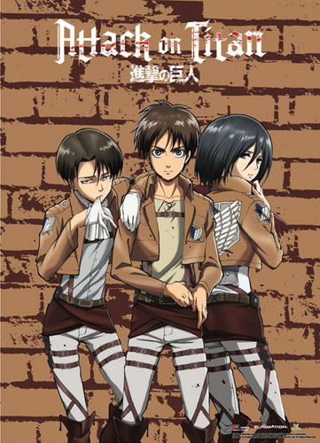 Attack On Titan - Group 3 Wallscroll, an officially licensed Attack On Titan product at B.A. Toys.