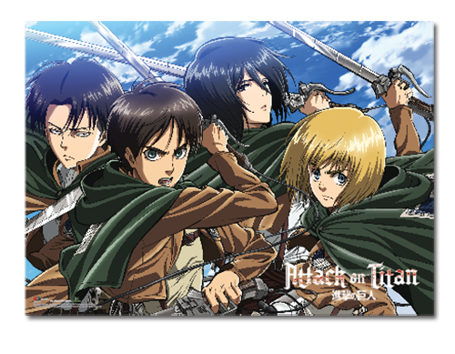 Attack On Titan - Key Art 16 Wallscroll, an officially licensed product in our Attack On Titan Wall Scroll Posters department.