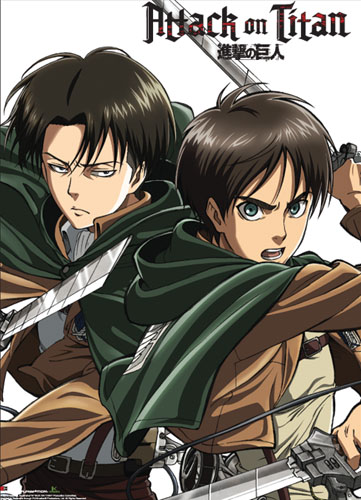 Attack On Titan - Key Art 17 Wallscroll officially licensed product at B.A. Toys.