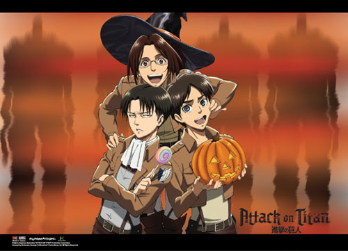 Attack On Titan - Halloween Group Special Edition Wallscroll, an officially licensed Attack On Titan product at B.A. Toys.