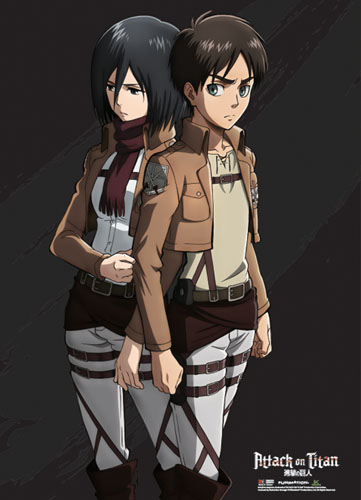 Attack On Titan - Eren & Mikasa Special Edition Wallscroll officially licensed Attack On Titan Wall Scroll Posters product at B.A. Toys.