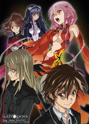 Guilty Crown - Group Wallscroll, an officially licensed product in our Guilty Crown Wall Scroll Posters department.