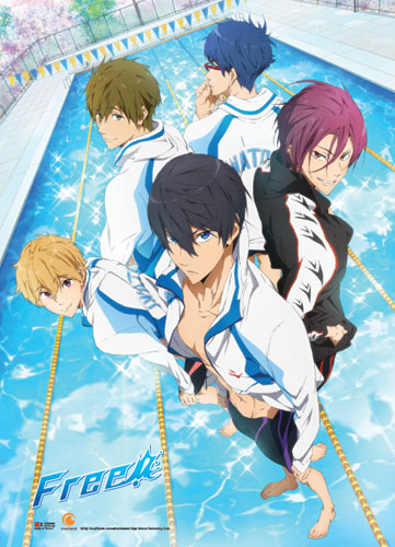 Free! - Key Art Wallscroll, an officially licensed product in our Free! Wall Scroll Posters department.
