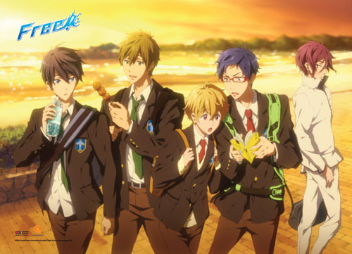 Free! - Sunset Wallscroll, an officially licensed product in our Free! Wall Scroll Posters department.