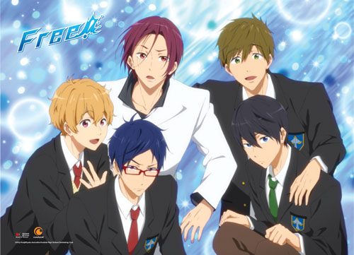 Free! - Group Line-Up Wallscroll, an officially licensed product in our Free! Wall Scroll Posters department.