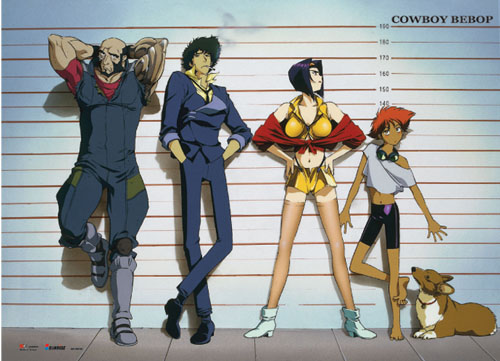 Cowboy Bebop - Line-Up Wallscroll, an officially licensed product in our Cowboy Bebop Wall Scroll Posters department.