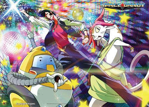 Space Dandy - Dance Party Wall Scroll, an officially licensed product in our Space Dandy Wall Scroll Posters department.