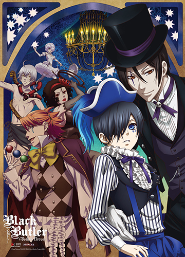 Black Butler B.o.c. - Key Art Wall Scroll officially licensed Black Butler Book Of Circus Wall Scroll Posters product at B.A. Toys.