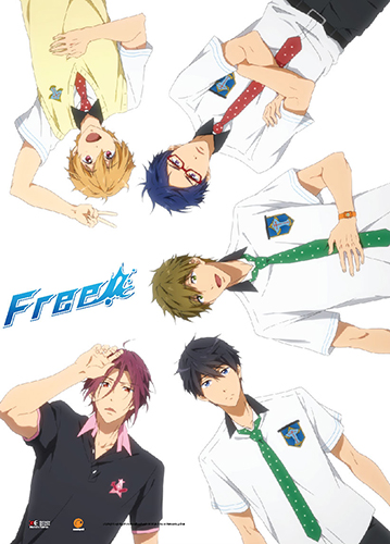Free! - Rin, Haruka, Makoto, Rei & Nagisa Wall Scroll, an officially licensed product in our Free! Wall Scroll Posters department.