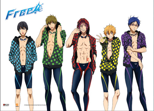 Free! - Haruka, Makoto, Rin, Nagisa And Rei Wallscroll, an officially licensed product in our Free! Wall Scroll Posters department.