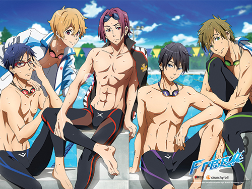 Free - After Swimming Wall Scroll, an officially licensed product in our Free! Wall Scroll Posters department.