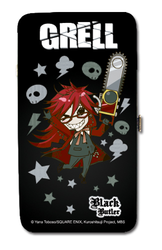 Black Butler Sd Grell Hinge Wallet, an officially licensed product in our Black Butler Wallet & Coin Purse department.