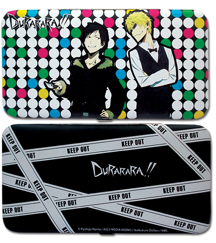 Durarara!! - Izaya & Shizuo Hinge Wallet officially licensed Durarara!! Wallet & Coin Purse product at B.A. Toys.
