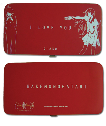 Bakemonogatari - I Love Hinge Wallet, an officially licensed Everything Else product at B.A. Toys.