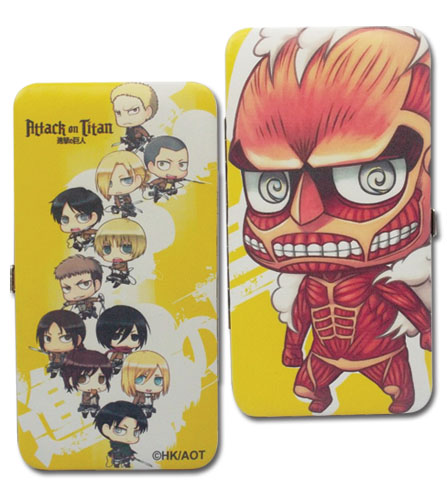 Attack On Titan - Sd Group Hinge Wallet, an officially licensed product in our Attack On Titan Wallet & Coin Purse department.