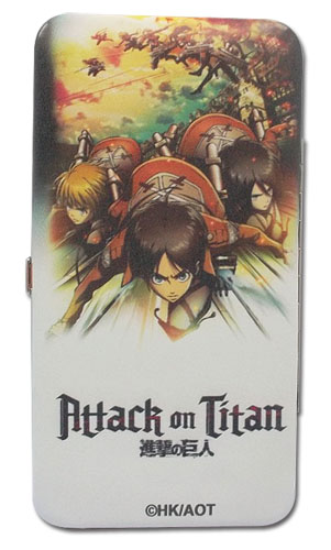 Attack On Titan - Key Art Hinge Wallet officially licensed Attack On Titan Wallet & Coin Purse product at B.A. Toys.