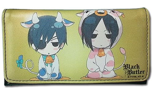 Black Butler - Sd Cow Costume Sebastian & Ciel Wallet, an officially licensed product in our Black Butler Wallet & Coin Purse department.