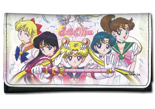 Sailor Moon - Sailor Soliders Line Up Wallet, an officially licensed product in our Sailor Moon Wallet & Coin Purse department.
