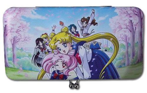 Sailor Moon - School Girls & Cherry Blossoms Kisslock Hinge Wallet, an officially licensed product in our Sailor Moon Wallet & Coin Purse department.