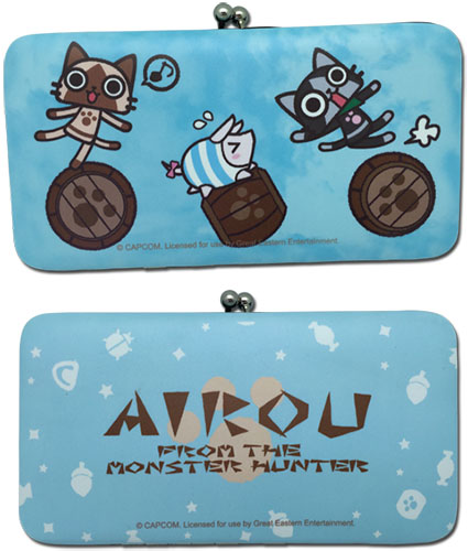 Airou From The Monster Hunter - Group Hinge Wallet, an officially licensed product in our Airou From The Monster Hunter Wallet & Coin Purse department.