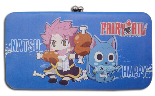 Fairy Tail - Natsu & Happy Hinge Wallet, an officially licensed product in our Fairy Tail Wallet & Coin Purse department.