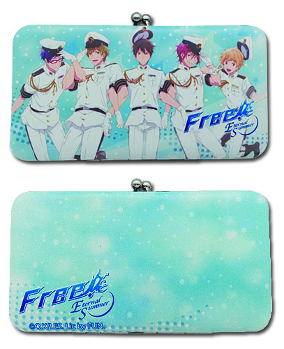 Free! 2 - Group Hinge Wallet, an officially licensed product in our Free! Wallet & Coin Purse department.