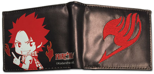 Fairy Tail - Sd Natsu & Logo Bi-Fold Wallet, an officially licensed product in our Fairy Tail Wallet & Coin Purse department.