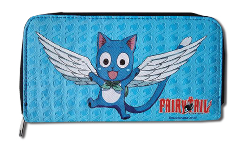 Fairy Tail - Happy Jrs. Zip Wallet, an officially licensed product in our Fairy Tail Wallet & Coin Purse department.