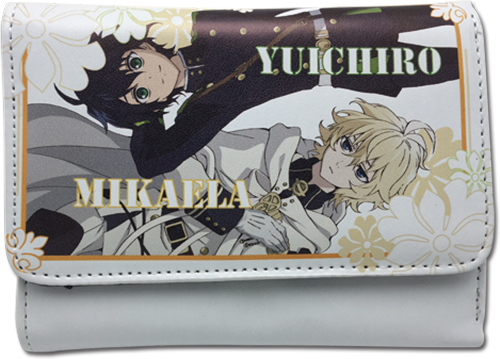 Seraph Of The End - Mikaela & Yuchiro Wallet, an officially licensed product in our Seraph Of The End Wallet & Coin Purse department.