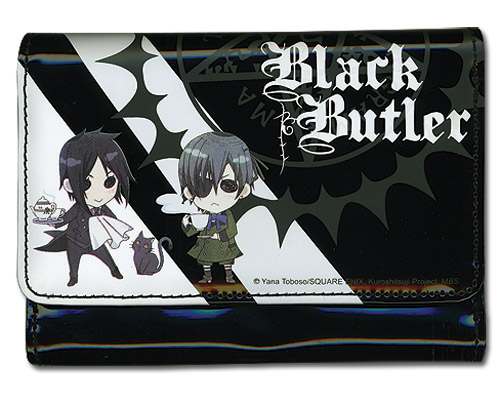 Black Butler Ciel & Sebastian Girl Wallet, an officially licensed product in our Black Butler Wallet & Coin Purse department.