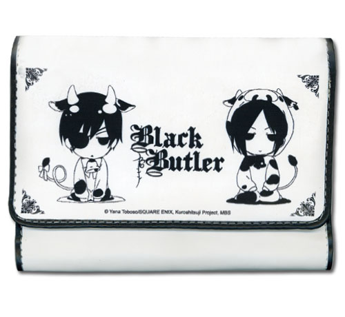 Black Butler - Ciel & Sebastian Cow Sd Girl Wallet, an officially licensed Black Butler product at B.A. Toys.