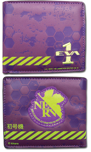 Evangelion New Movie - 01 Wallet officially licensed Evangelion Wallet & Coin Purse product at B.A. Toys.